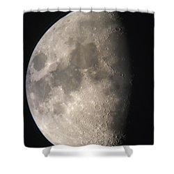 Moon Against The Black Sky Shower Curtain by John Short