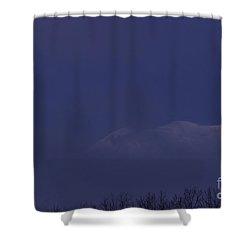 Moon At Dawn Shower Curtain by Yuichi Takasaka