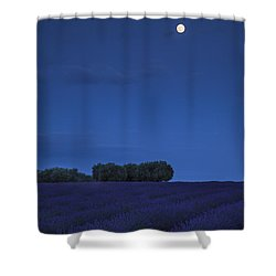 Moon Over Lavender Shower Curtain by Brian Jannsen