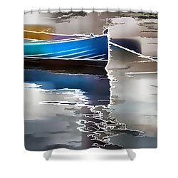 Moored Shower Curtain by Alice Gipson