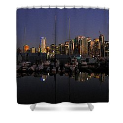 Moored For The Night Shower Curtain by Will Borden