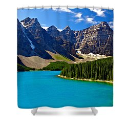 Moraine Lake Shower Curtain by James Steinberg and Photo Researchers