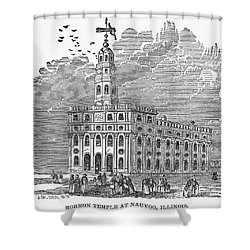 Mormon Temple, Nauvoo Shower Curtain by Granger