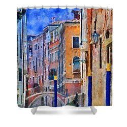 Morning Calm In Venice Shower Curtain by Jeff Kolker