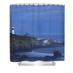 Morning Light Over Yaquina Head Shower Curtain by Craig Tuttle
