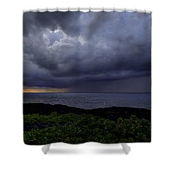 Morning Squall Shower Curtain by Mike Herdering