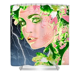 Mother Nature Shower Curtain by Methune Hively