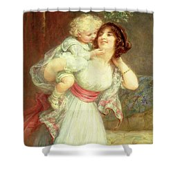 Mothers Darling Shower Curtain by Frederick Morgan