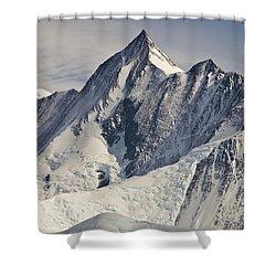 Mount Herschel Above Cape Hallett Shower Curtain by Colin Monteath
