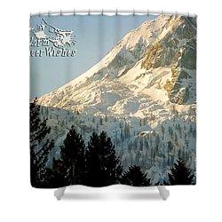 Mountain Christmas 2 Austria Europe Shower Curtain by Sabine Jacobs
