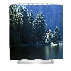 Mountain Lake In Arbersee, Germany Shower Curtain by John Doornkamp