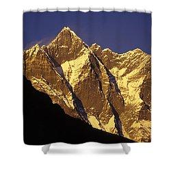 Mountain Peaks Shower Curtain by Sean White