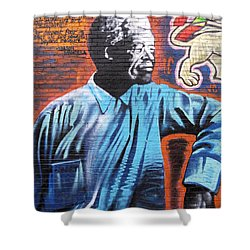 Mr. Nelson Mandela Shower Curtain by Juergen Weiss