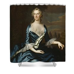 Mrs. Charles Carroll Of Annapolis Shower Curtain by John Wollaston