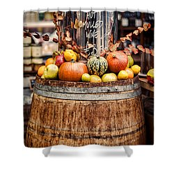 Mulled Wine Shower Curtain by Heather Applegate