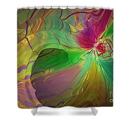 Multi Colored Rainbow Shower Curtain by Deborah Benoit