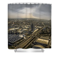 Munich From Above - Vintage Part Shower Curtain by Hannes Cmarits