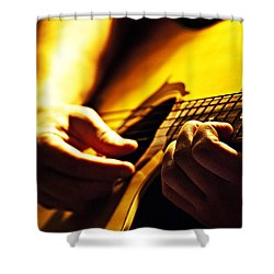 Music Is Passion Shower Curtain by Christopher Gaston
