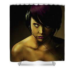 Music Shower Curtain by Pete Tapang