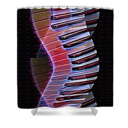 Musical Dna Shower Curtain by Bill Cannon