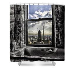 My Favorite Channel Is Manhattan View Shower Curtain by Madeline Ellis