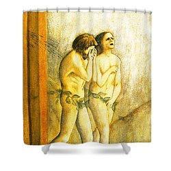 My Masaccio Expulsion Of Adam And Eve Shower Curtain by Jerome Stumphauzer