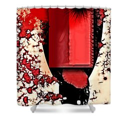 My Thoughts Hurt Shower Curtain by Stelios Kleanthous