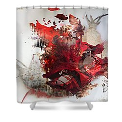 Mystery Of The Mask Shower Curtain by Jerry Cordeiro