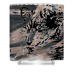 Mystique Print Shower Curtain by Vicky  Hutton