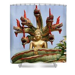 Naga Shower Curtain by Adrian Evans