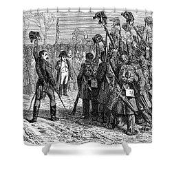 Napoleons Return, 1815 Shower Curtain by Granger