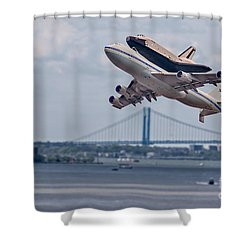 Nasa Enterprise Space Shuttle Shower Curtain by Susan Candelario