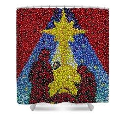 Nativity Mm Candy Mosaic Shower Curtain by Paul Van Scott