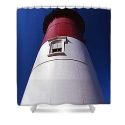 Nauset Beach Lighthouse Shower Curtain by Skip Willits