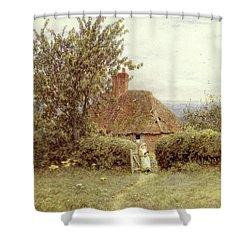 Near Haslemere Shower Curtain by Helen Allingham