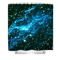 Nebulae In Cygnus Shower Curtain by Science Source