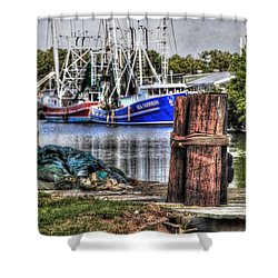Nets And The Sea Goddess Shower Curtain by Michael Thomas