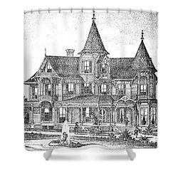 New Jersey: Atwood House Shower Curtain by Granger