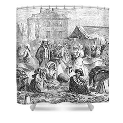 New Orleans: Market, 1866 Shower Curtain by Granger