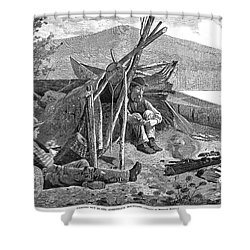 New York: Camping, 1874 Shower Curtain by Granger