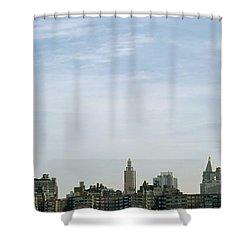 New York City Skyline Shower Curtain by Axiom Photographic