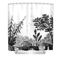 New York: Saw Mill, 1792 Shower Curtain by Granger