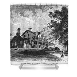 New York State: Mansion Shower Curtain by Granger
