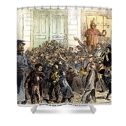 New York Street Scene Shower Curtain by Granger