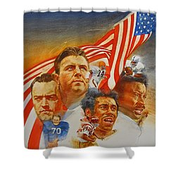 Nfl Hall Of Fame 1984 Game Day Cover Shower Curtain by Cliff Spohn