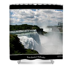 Niagara Falls American And Canadian Horseshoe Falls Shower Curtain by Rose Santuci-Sofranko