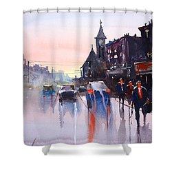 Night Fall - Berlin Shower Curtain by Ryan Radke