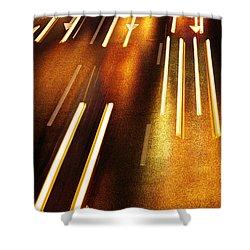 Night Traffic Shower Curtain by Carlos Caetano