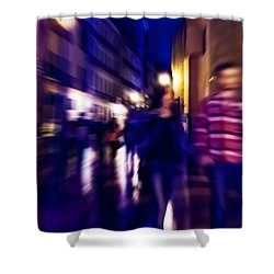 Night Walk. Tnm Shower Curtain by Jenny Rainbow