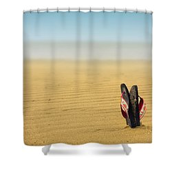 Nirvana Shower Curtain by Evelina Kremsdorf